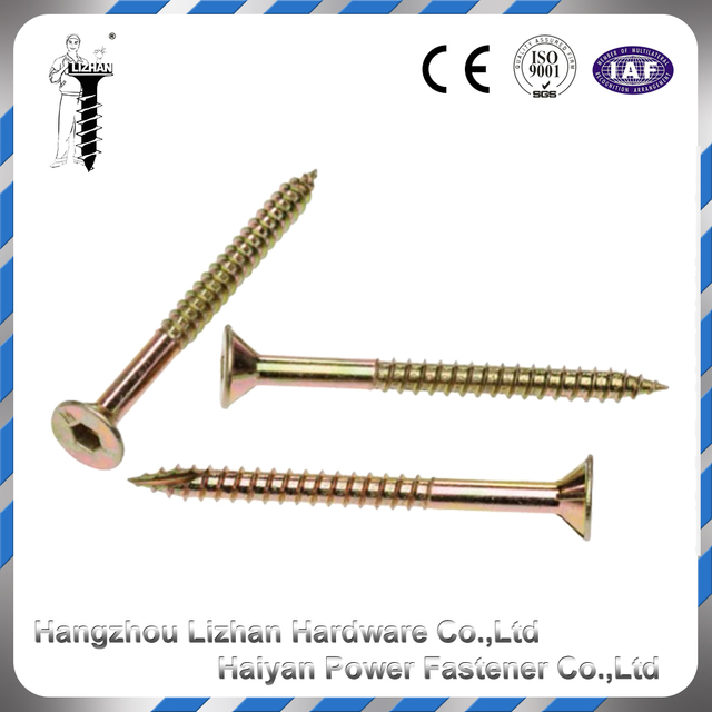 Metal fasteners captive brass wood screws