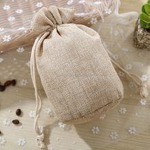 Custom small cheap plain burlap drawstring coffee <strong>bag</strong> round bottom gunny jute packing <strong>bag</strong>