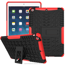 Rugged light steathy stand armor cover for Apple iPad air iPad 5 tyre case