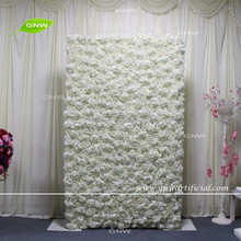 GNW FLW1607001-CL New style flower wall for wedding decoration artificial flowers wall with cloth back