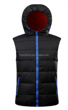 2017 Custom Duck Down Sleeveless Hooded Vest