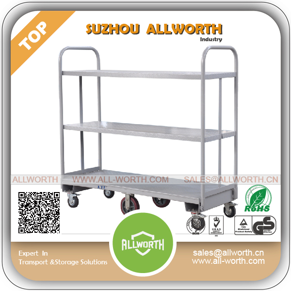 Warehouse U Boat Flat Trolley with Plastic Handles
