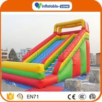 Fast shipping inflatable bouncer with slide for kids large inflatable waterslide
