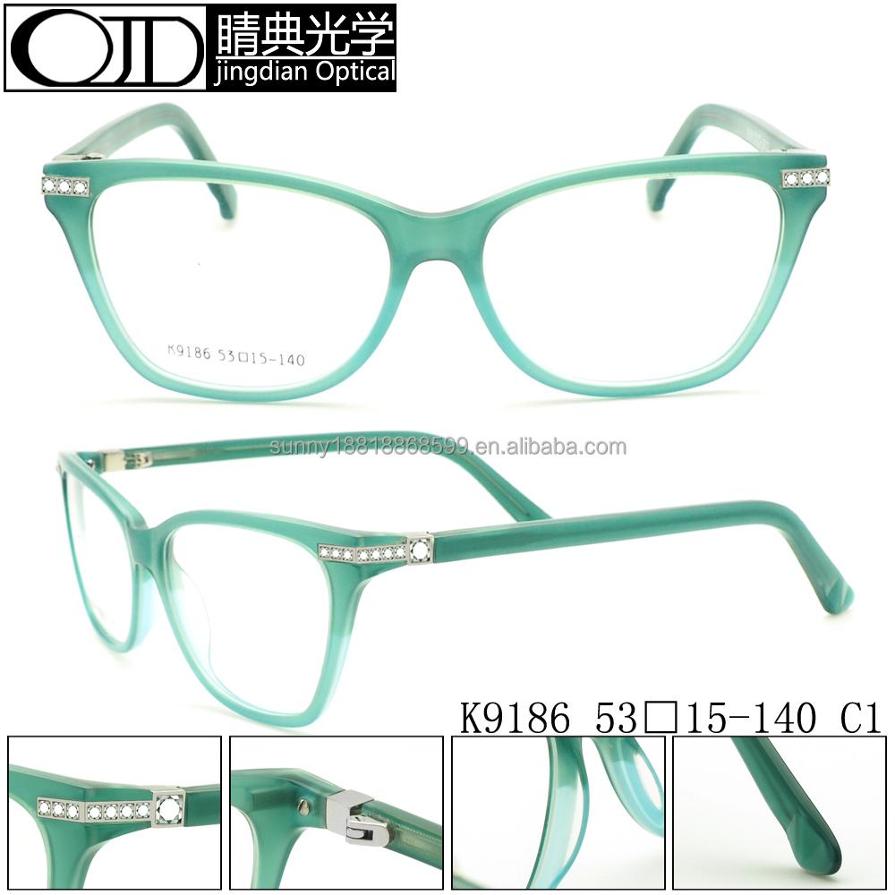 Eyeglass Frames With Diamonds : Diamond Eyewear Frame,Diamond Decoration Eyegalsses Frames ...