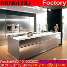Kitchen CNC machining stainless steel kitchen model cabinet modular ss 304 ss316 stainless steel pantry cupboard