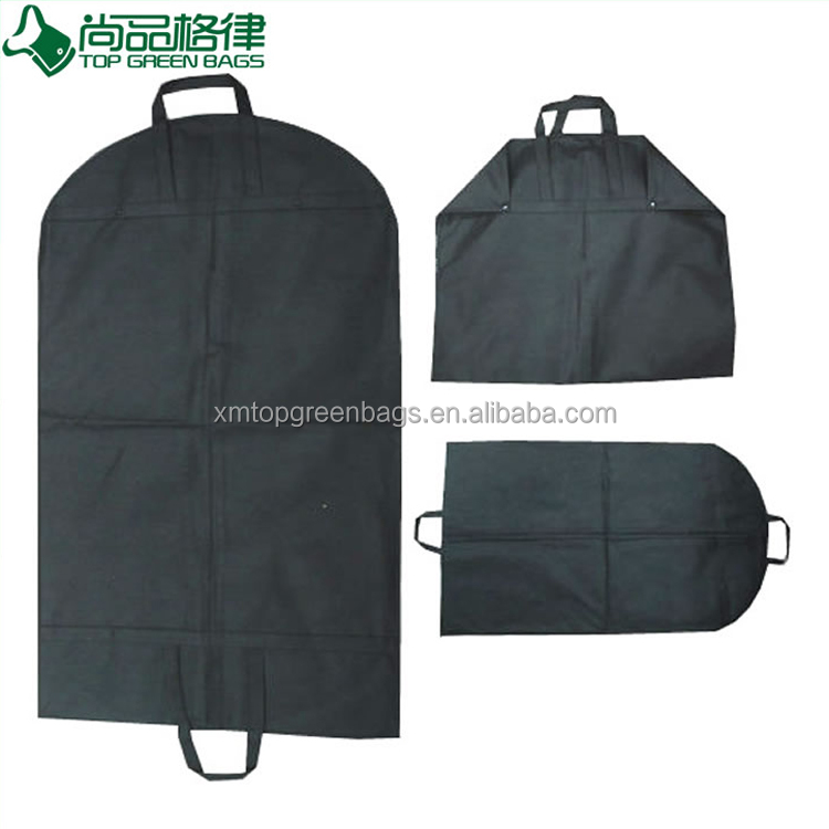 Zip Wholesale Foldable Non Woven Clothes Garment Suit Coat Dust Cover