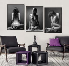 3pcs Melamine Sponge Board bedroom Paintings Sexy Nude Women Pictures Frame Ladies Body Photo Bedroom Decor Wall Art Paint