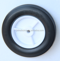 handtruck 6 inch solid rubber caster wheel for wholesale