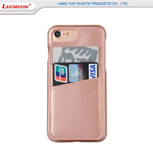 Mobile Phone Accessories, Genuine Leather Cell Phone Case for iPhone 7 7 Plus Design With Mirror Flip Back Cover For iPhone