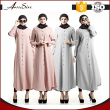 AMESIN Pink or grey color beautiful muslim dresses