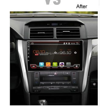 10.1 inch Toyota Camry Touch Screen Car Radio Player with Colorful LED and Rear Camera Input for Route Navigation