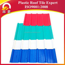 tile cover roofing pvc coated corrugated roof sheets stone coated chip plastic roof tile / sheets