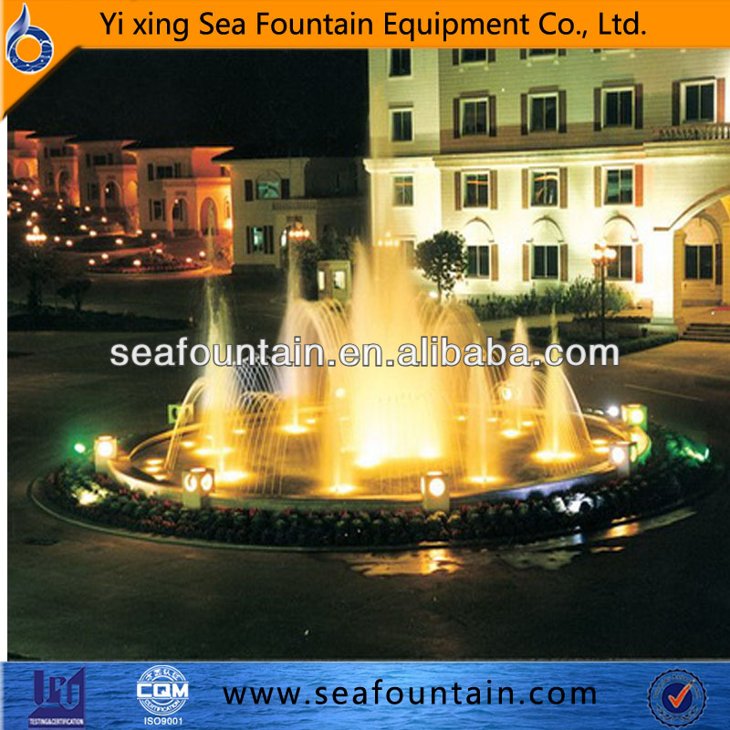 garden small music fountains colorful lights fountain