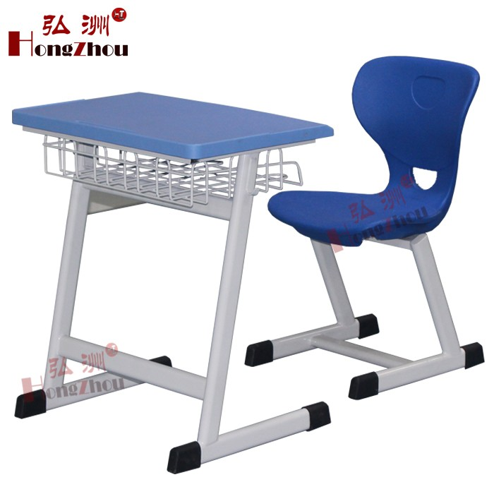 Durable Old School Furniture Plastic Desk and Chair