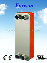 FHC028 copper brazed plate heat exchanger (Equal Swep B10 B12 B15, Alfa Laval CB26 CB27)