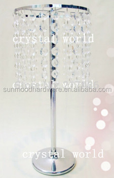 Crystal Table Top Chandelier Centerpieces For Weddings Without The Bead Stands And Flowers