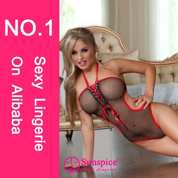 sunspice free size Europe hot sell sexy beauty images sexy hot mesh teddy