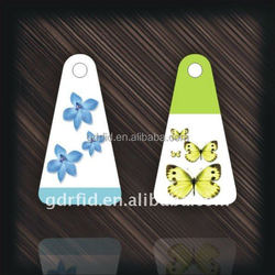 Colorful Fashion Printable PVC Epoxy RFID key rings key fob