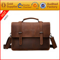China wholesale real leather messenger laptop bag for men