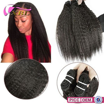 XBL New Arrival Malaysian Human Hair Kinky Straight Remy Weave