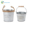 Vintage galvanized metal decoration garden flower pots