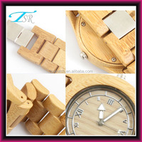 eco-friendly fashion wooden case handmade stainless steel buckle wooden watch