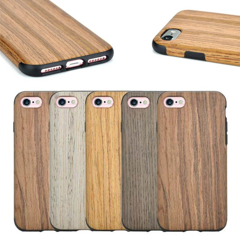 New product Wooden Pattern soft TPU Case cover for iPhone 7