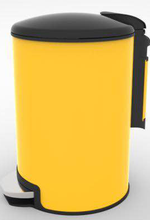 high-tech powder coated Electronic trash bin