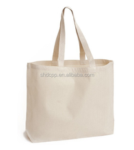 Hot sale factory price plain white heavy cotton canvas tote bag wholesale