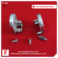 Stainless steel glass clamp for glass balustrade railing fiiting connect glass panel