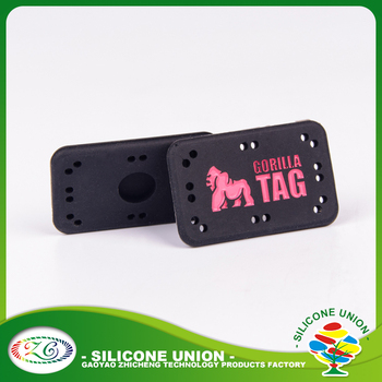 Custom made logo bulk cheap silicone rubber luggage tags