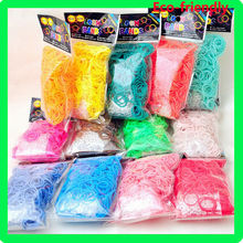 Popular crazy DIY children 600pcs rings Loose Silicone Rubber loom bands elastic wrist band For Bracelet