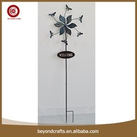 Exquisite iron flower garden stake welcome sign
