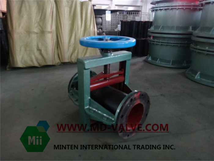 manually operated pinch valve for mining adopt long time life rubber tube lined