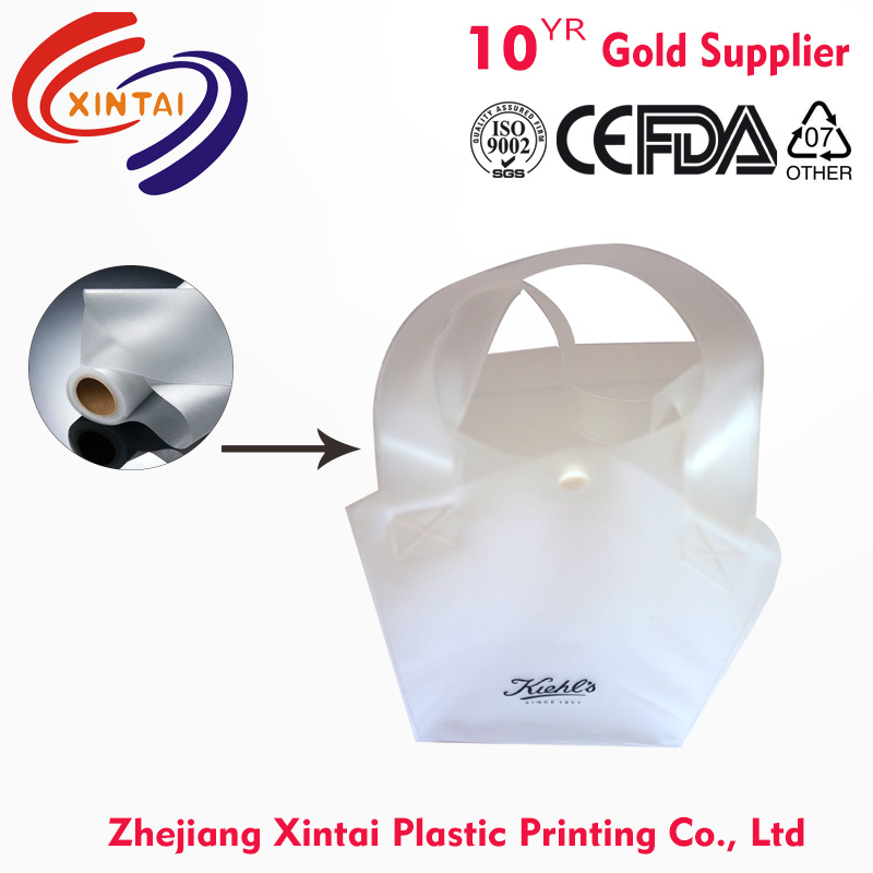 Custom made printed half clear frosted / Matte plastic EVA bag