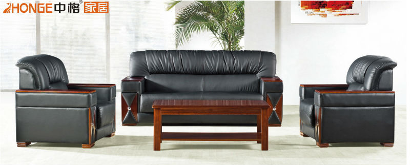 modern leather office sofa set designs S006#