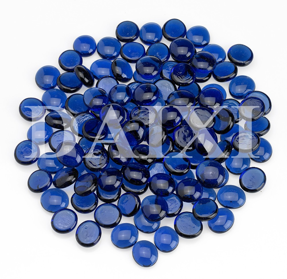 Fire Glass Gems Flat Glass Beads