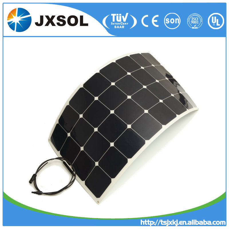 China JX popular products, semi flexible solar panels, 100w mono type for the whole market