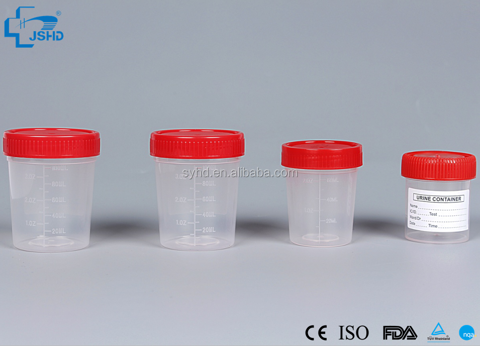 Disposable plastic hopital urine bottle