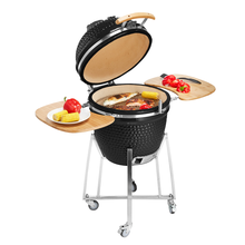 Outdoor Fireplace Egg Shaped BBQ Grill Kamado Grill Smoker