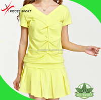 sexy young ladies fashion blank dress outdoor activity skirts shirts