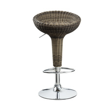 (MEGI) Hard material new style rattan bar chair adjustable bar stool
