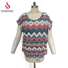 Oem summer comfortable fabric bat sleeve ladies tops women t shirt