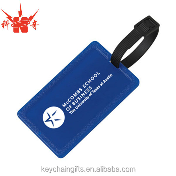 Wholesale custom square shape clear plastic luggage tags