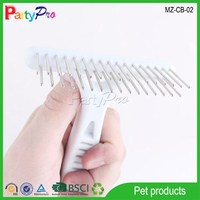 2015 Dog Grooming Brushes Plastic Handle Stainless Steel Double Tooth Pet Comb