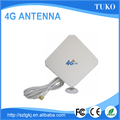 white 35dbi external sma male panel 4g antenna for Huawei modem