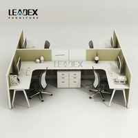 popular cubicle 4 people office workstations