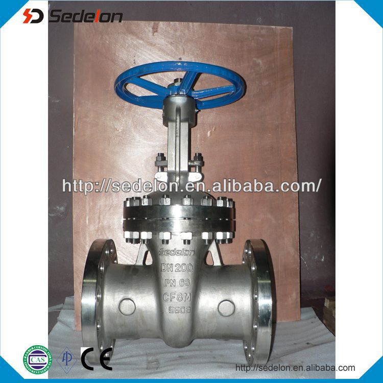 Flange end api stainless steel gate valve cf8m acid water oil