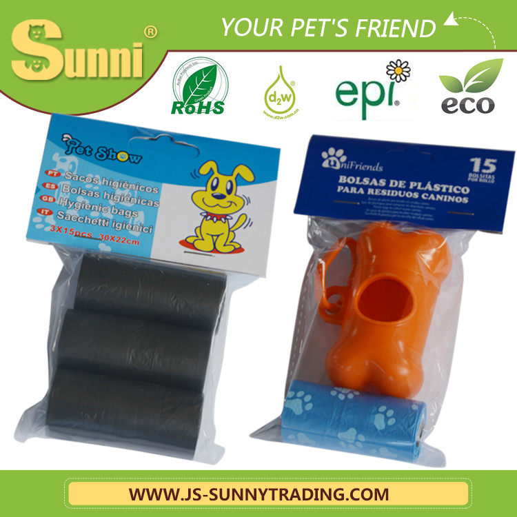 dog shaped eco-friendly biodegradable D2W pet waste bag manufacturer