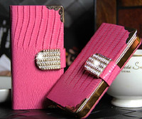 New Luxury Magnetic Clip Card Holders Diamond Bling Wallet Case For Mobile Phones for iphone s3,s4,note 1,note 2,note 3